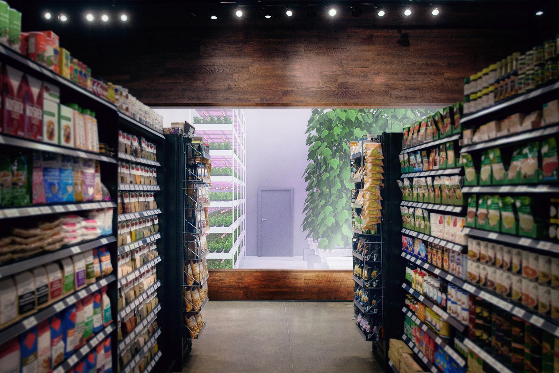 Agtira InStore med odling av gurka inomhus direkt i butik